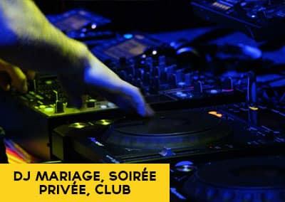 DJ mariage soirée privée club