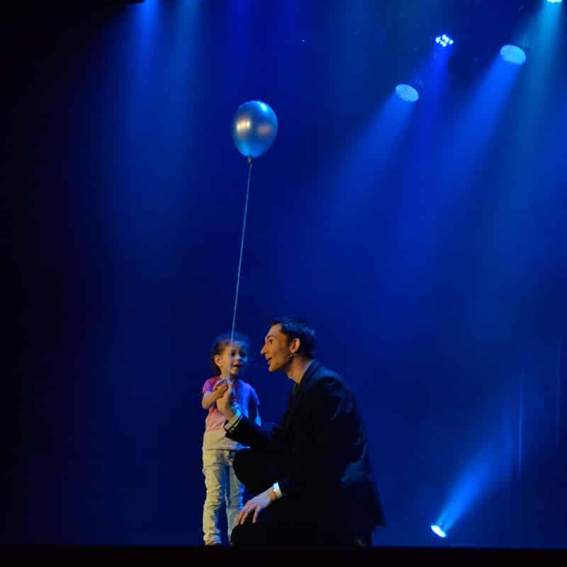 Spectacle enfant ballon helium