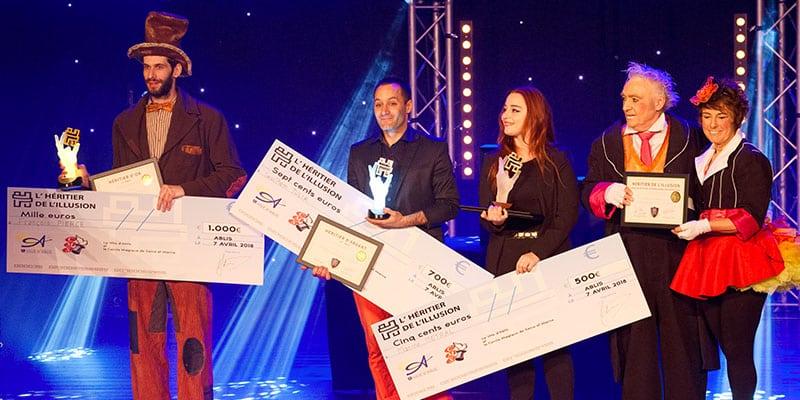 Lauréats concours de magie Festival de magie Paris Ablis