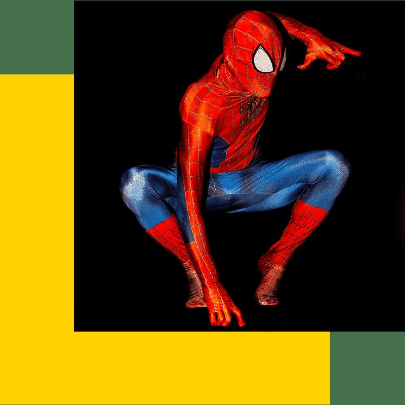Animation Super-héros - Cosplay spider Photo © : Neige Pernot