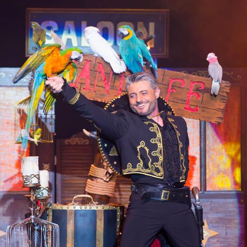 diner repas spectacle magic show cabaret