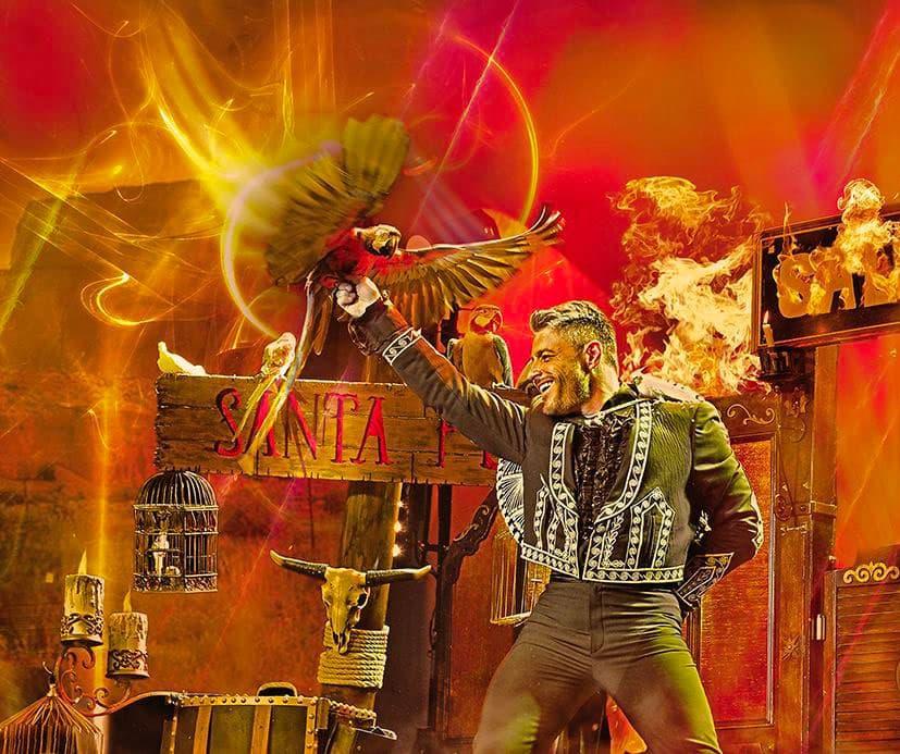 Dorian Grey magicien Paris prestige oiseau et feu