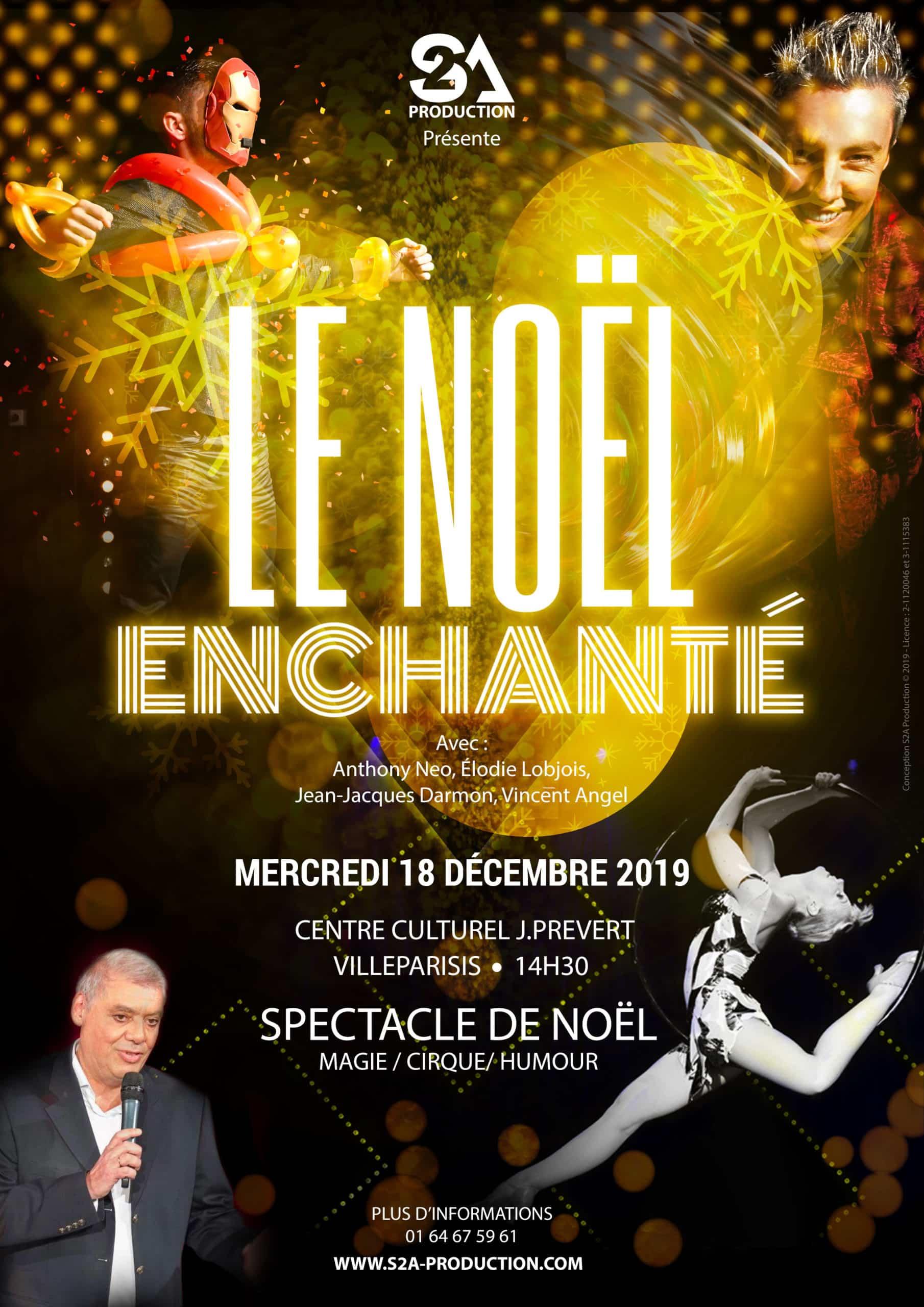 Spectacle de Noël Villeparisis | CE École Enfants Mairie Collectivité Entreprise