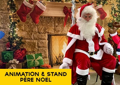 Animation et stand Père Noël