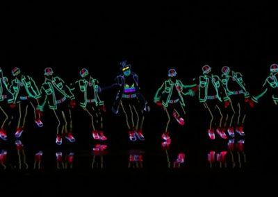 danseurs lumineux lumière LED