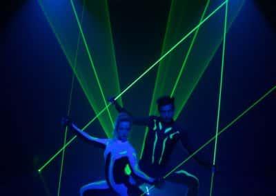 laser man lazer spectacle animation