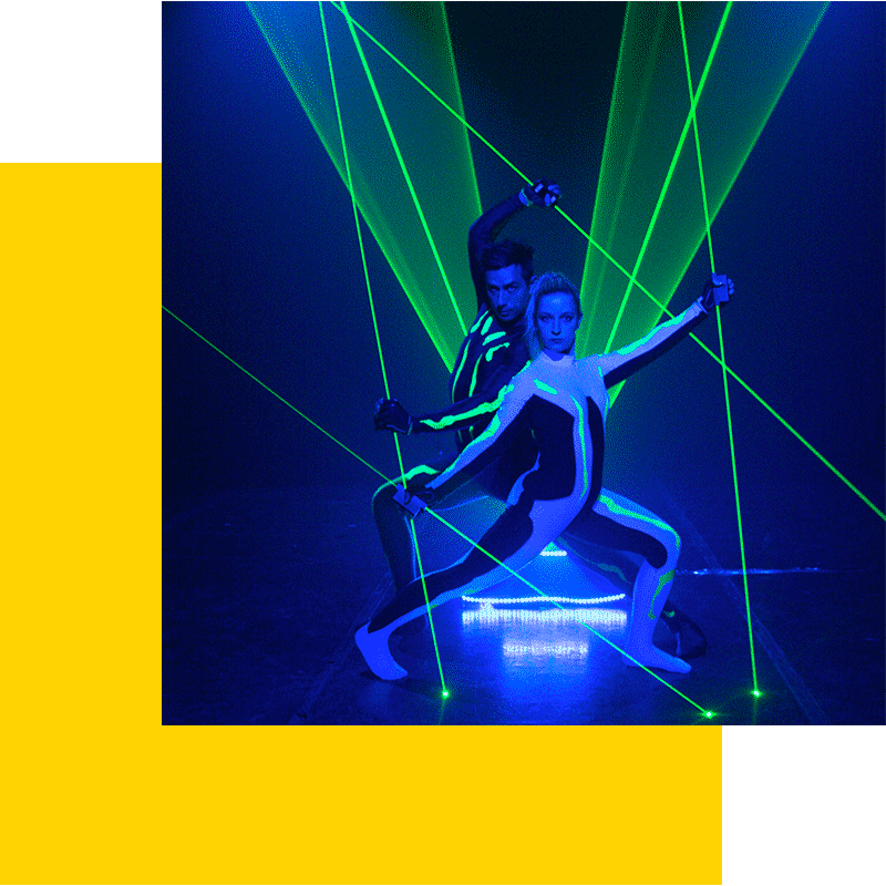 laser man show spectacle animation lazer