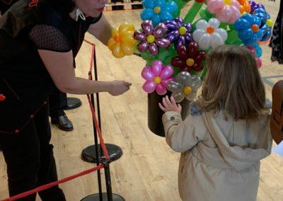 sculpture de ballon centre commercial