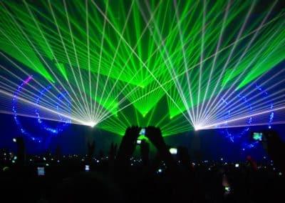 spectacle de laser événementiel