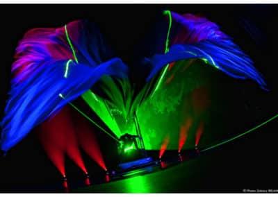 spectacle de laser numéro visuel