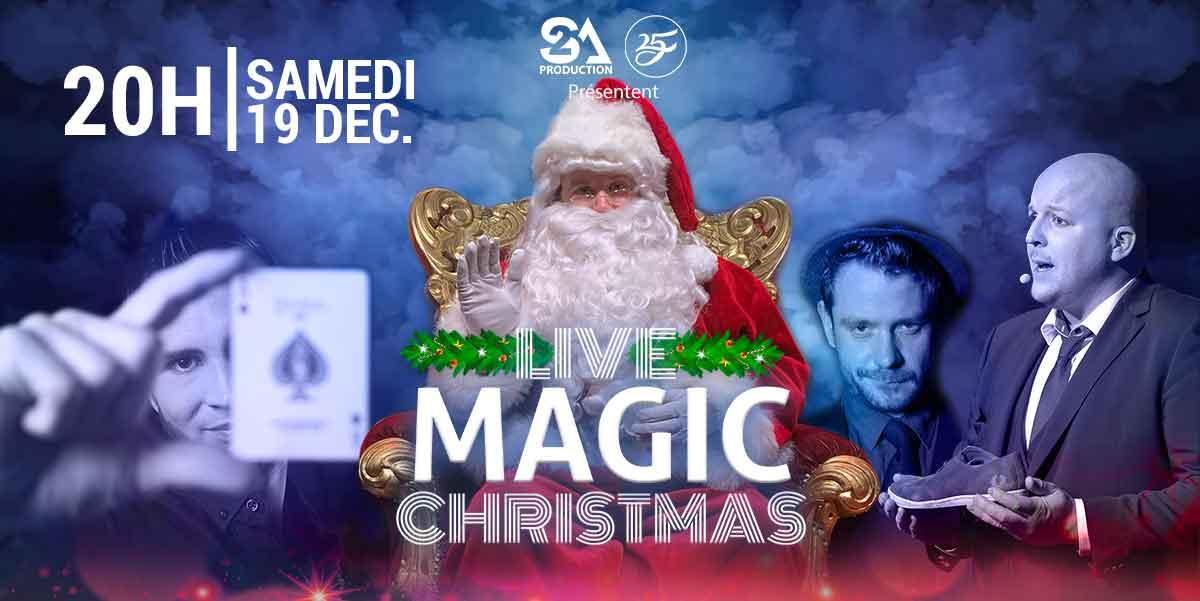 « Live Magic Christmas » est le premier show digital regroupant plusieurs artistes en direct sur Zoom.