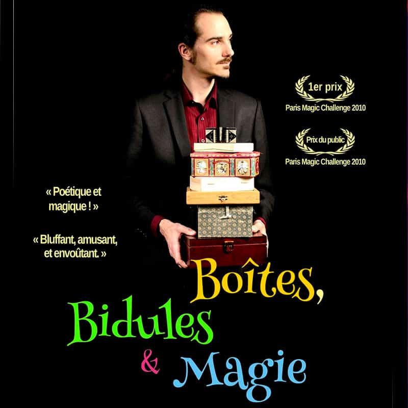 Boîtes, Bidules & Magie spectacle jean sebastien masses